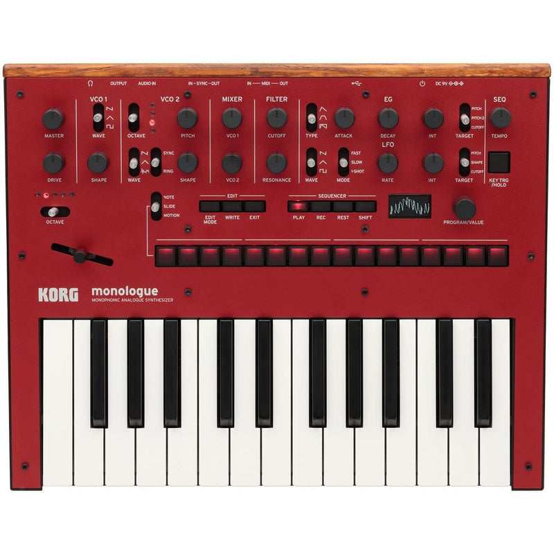Korg Monologue Analog Monophonic Red Synth & Decksaver - PSSL ProSound and Stage Lighting