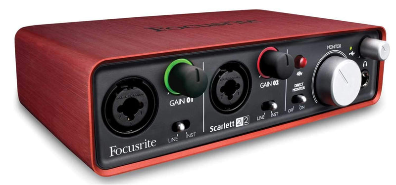 Focusrite Scarlett 2i2 USB Audio Interface with MXL Aria Studio Mic - PSSL ProSound and Stage Lighting