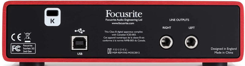 Focusrite Scarlett 2i2 USB Audio Interface with ADM7 Dynamic Vocal Mic - PSSL ProSound and Stage Lighting