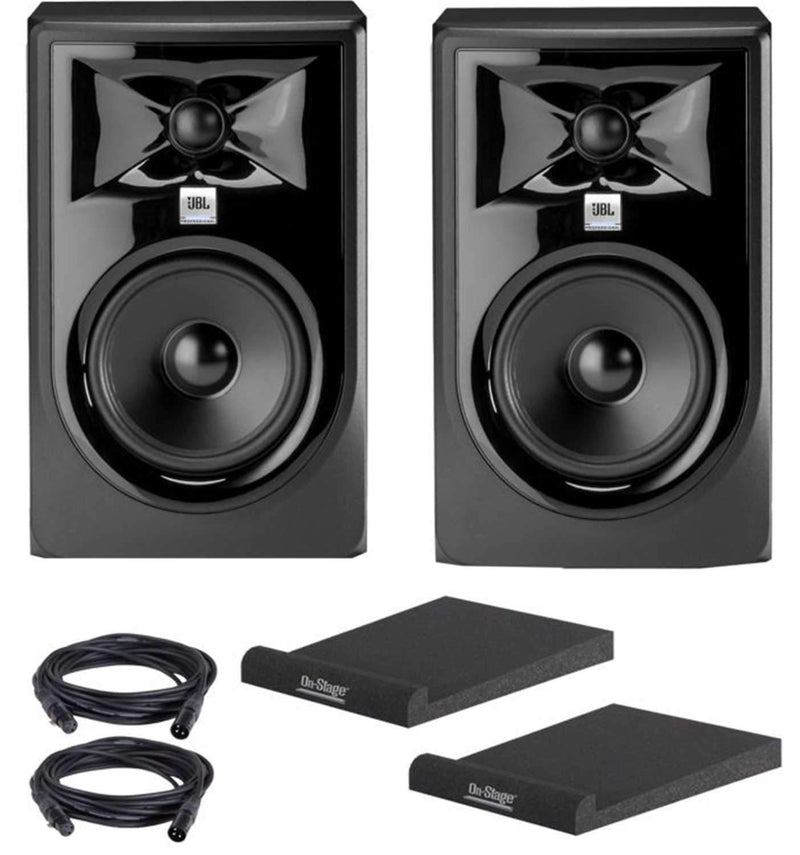 JBL 306P MKII Studio Monitor Pair with Isolation Pads & XLR Cables - PSSL ProSound and Stage Lighting