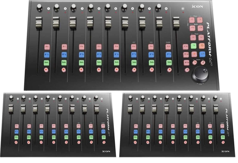 Icon Platform M-Plus Desktop DAW Control Surface with Control Surface Extenders - PSSL ProSound and Stage Lighting