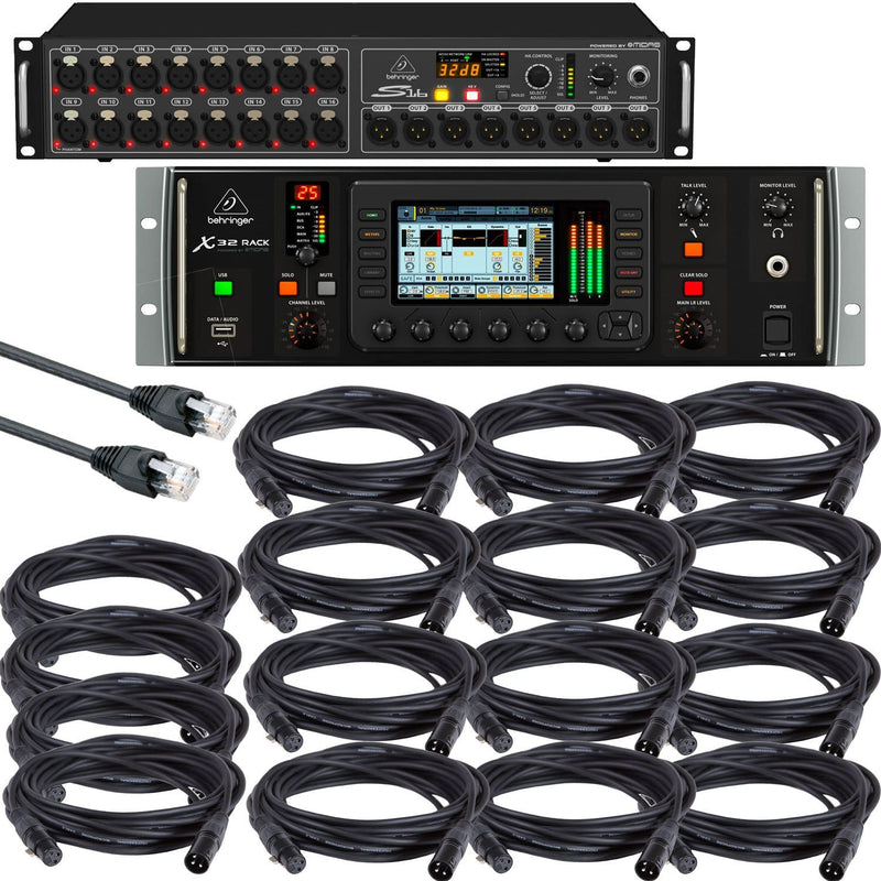 Behringer X32 Rack & S16 Digital Snake Bundle - PSSL ProSound and Stage Lighting