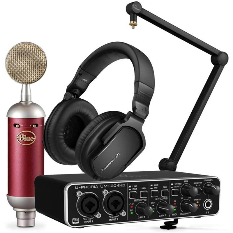 Blue Spark SL Podcast Bundle with HRM-5 Headphones - PSSL ProSound and Stage Lighting