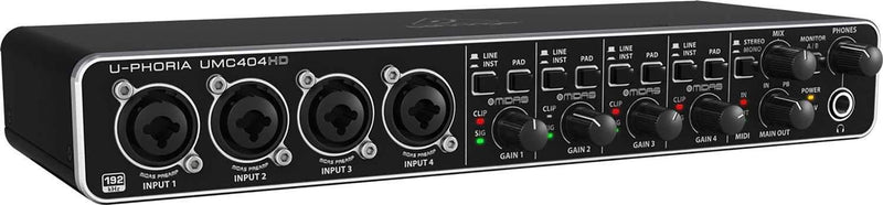 Behringer UMC 404HD USB Audio Interface with Cables - PSSL ProSound and Stage Lighting