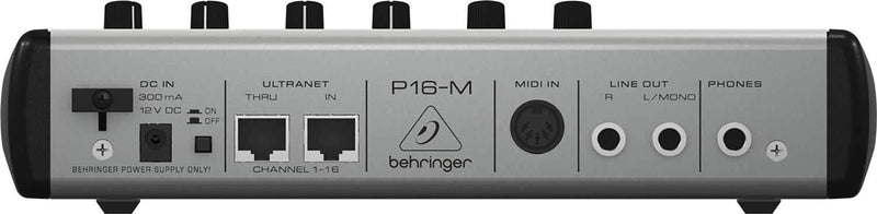 Behringer Powerplay P16-M Mixer w Mounting Bracket - PSSL ProSound and Stage Lighting