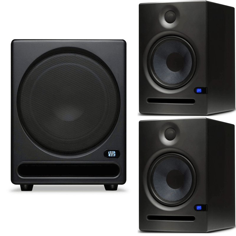 PreSonus Eris E8 8-Inch Studio Monitor Pair with Temblor T10 Subwoofer - PSSL ProSound and Stage Lighting