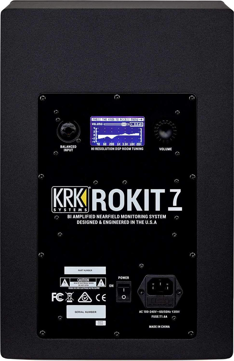 KRK RP7 G4 ROKIT 7-in Powered Studio Monitor Pair - PSSL ProSound and Stage Lighting