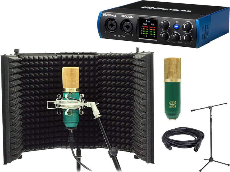 PreSonus Studio 24C 2x2 Interface with Recording Kit - PSSL ProSound and Stage Lighting