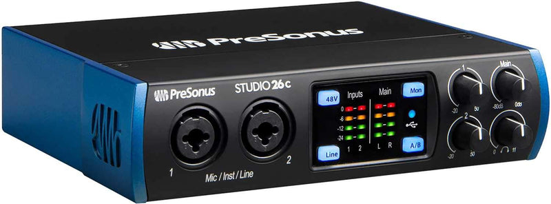 PreSonus Studio 26C 2x4 Interface with Recording Kit - PSSL ProSound and Stage Lighting