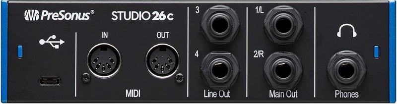 PreSonus Studio 26C 2x4 Interface with Recording Mic - PSSL ProSound and Stage Lighting
