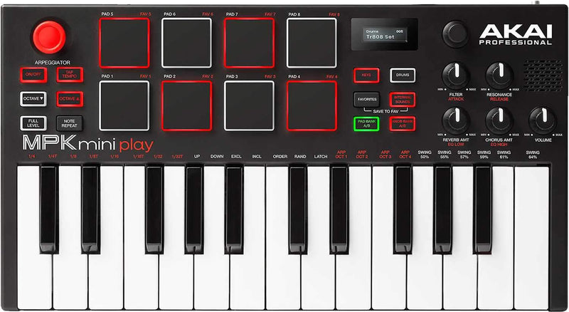 Akai MPK Mini Play 25 Key with Scarlett Solo - PSSL ProSound and Stage Lighting