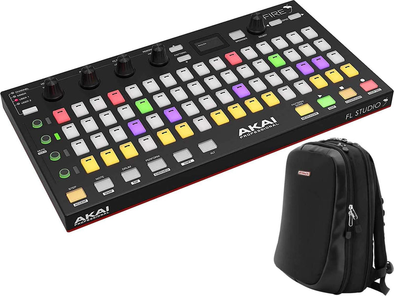 Akai Fire Controller for FL Studio with Orbit JetPack Slim Backpack - PSSL ProSound and Stage Lighting