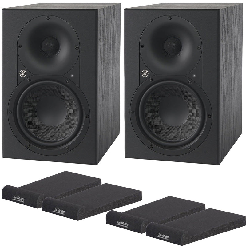 Mackie XR624 Pair Monitor Bundle with Iso Pads - PSSL ProSound and Stage Lighting