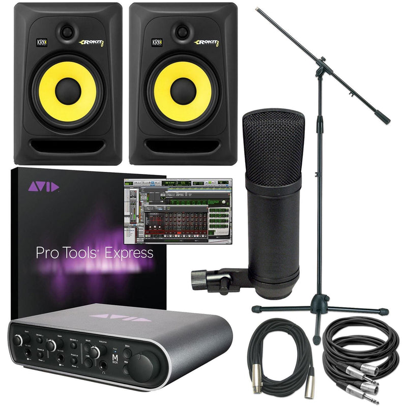 Pro Tools Express MBox 3 & KRK 8 Recording Bundle - PSSL ProSound and Stage Lighting