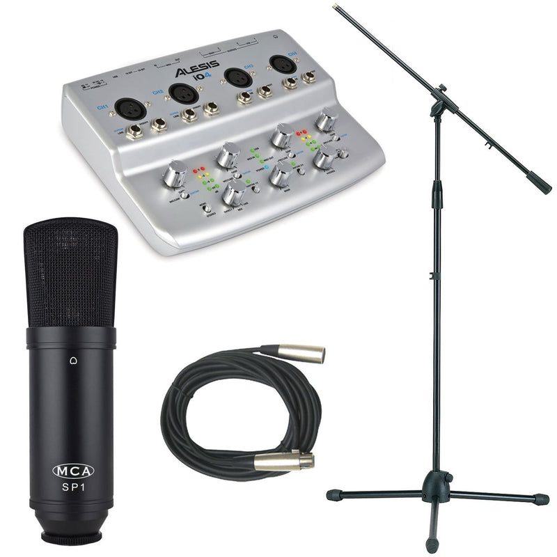 Alesis IO4 USB Interface with MCA SP1 & Accessories - PSSL ProSound and Stage Lighting