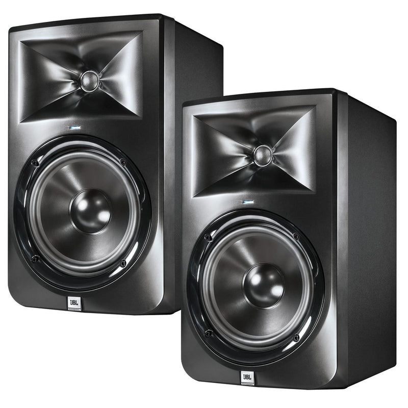 JBL LSR308 8 in Powered Studio Monitors Pair - PSSL ProSound and Stage Lighting