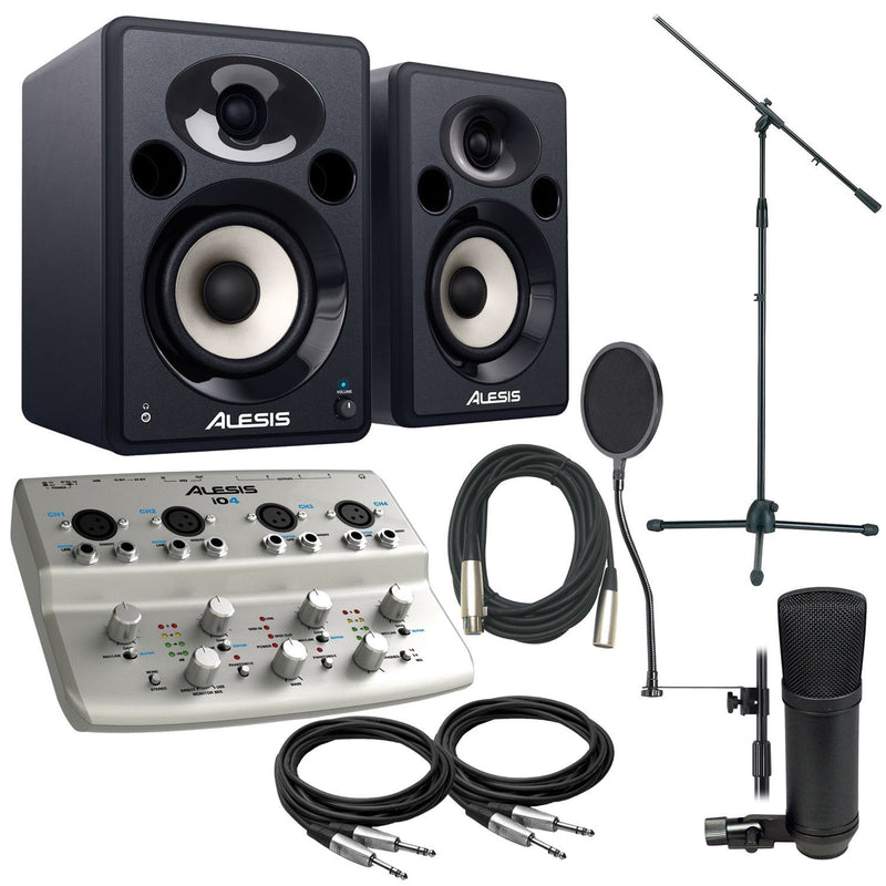 Alesis IO4 & Elevate 5 with SP1 Recording Package - PSSL ProSound and Stage Lighting