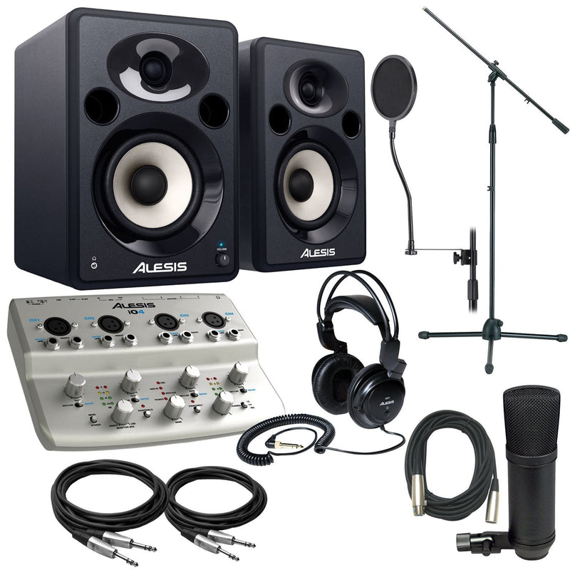 Alesis IO4 Complete Studio Recording Package - PSSL ProSound and Stage Lighting