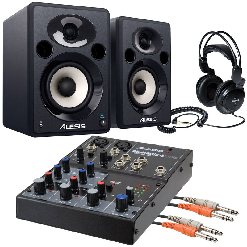 Alesis Recording Bundle with Interface & Monitors - PSSL ProSound and Stage Lighting