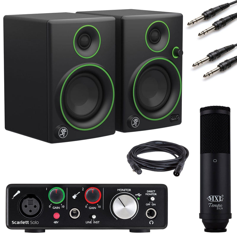 Studio Bundle with Focusrite Scarlett Solo and Mackie CR3 - PSSL ProSound and Stage Lighting