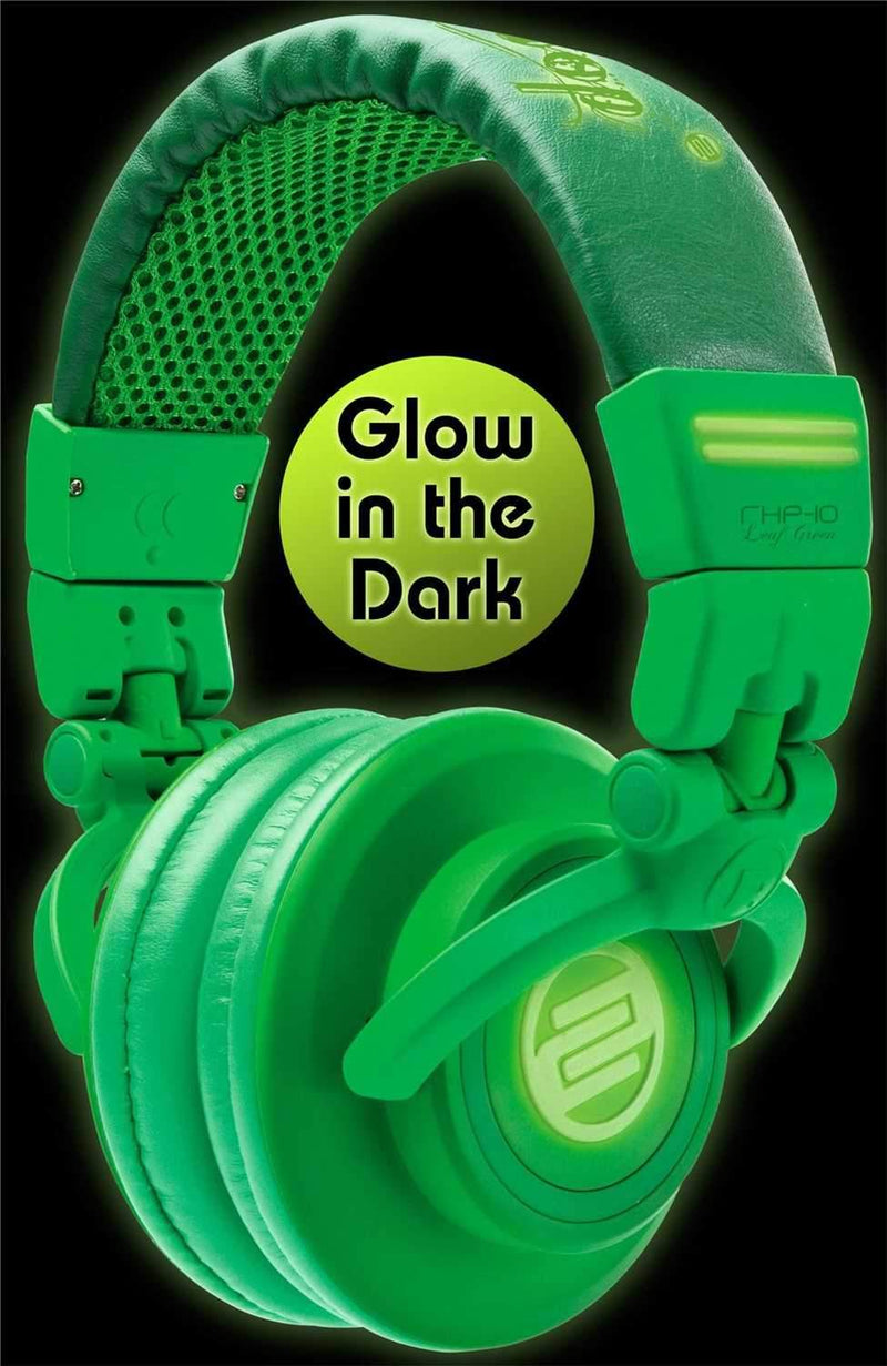 Reloop RHP10LEAF Glow In The Dark Dj Headphones - PSSL ProSound and Stage Lighting