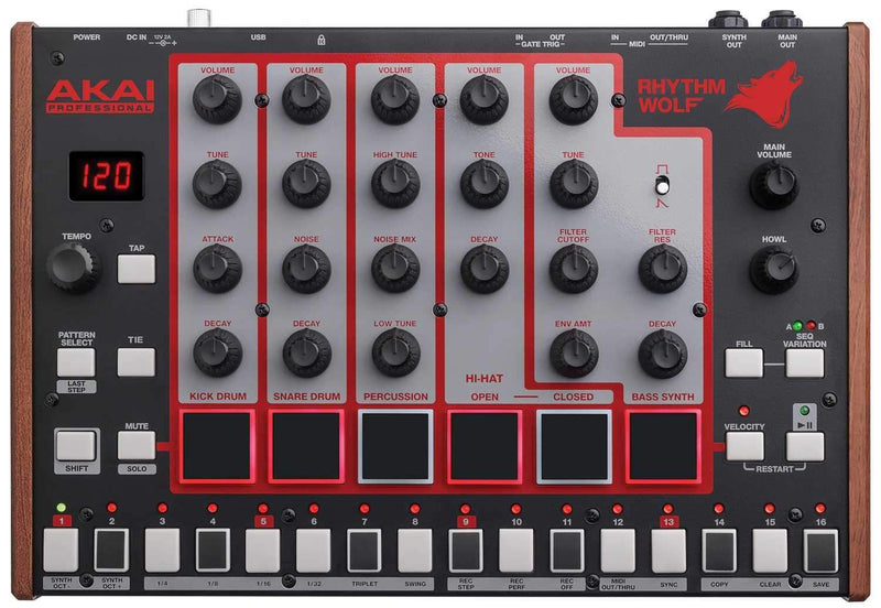 AKAI Rhythm Wolf Analog Drum Machine & Bass Synth - PSSL ProSound and Stage Lighting