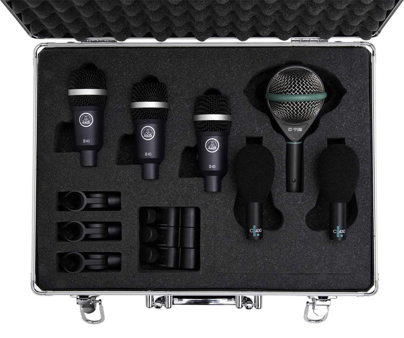 AKG Rhythm Pack Drum Kit Microphone D112 D40 C430 - PSSL ProSound and Stage Lighting