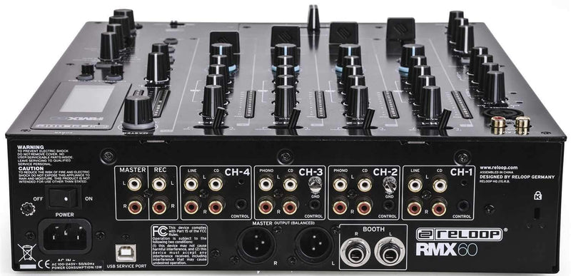 Reloop RMX-60 Digital 4 Plus 1 Channel DJ Mixer with FX - PSSL ProSound and Stage Lighting