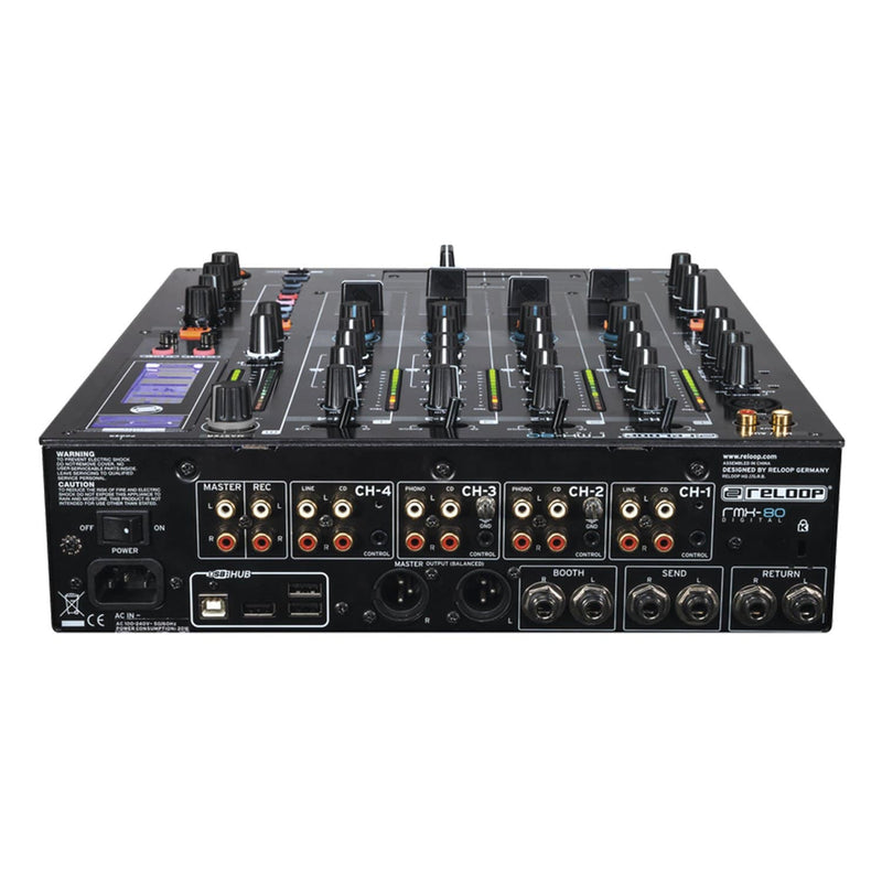 Reloop RMX-80 Digital 4 Plus 1 Channel DJ Mixer with FX - PSSL ProSound and Stage Lighting