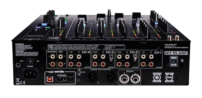 Reloop RMX-90 DVS Digital DJ Mixer for Serato DJ - PSSL ProSound and Stage Lighting