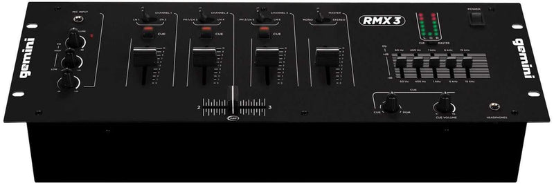 Gemini RMX3 19-IN 5-Channel DJ Mixer 5-Band EQ - PSSL ProSound and Stage Lighting