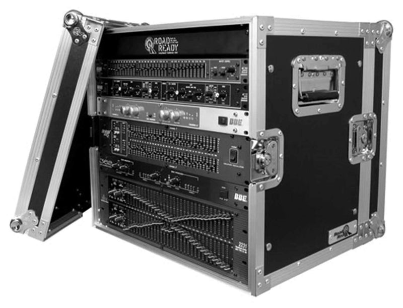 Road Ready RR10UEDHW 10 Space Deluxe Rack Case - PSSL ProSound and Stage Lighting