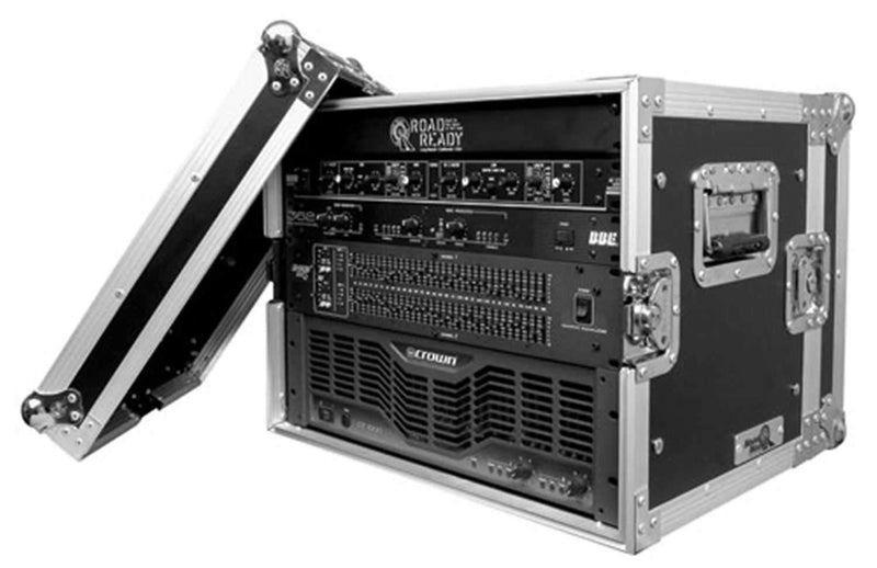 Road Ready RR8UEDHW 8 Space Deluxe Rack Case - PSSL ProSound and Stage Lighting