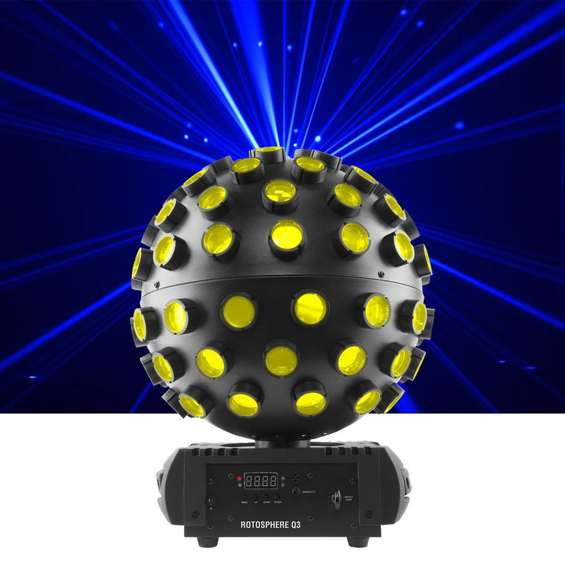 Chauvet Rotosphere Q3 LED Mirror Ball Simulator FX Light - PSSL ProSound and Stage Lighting