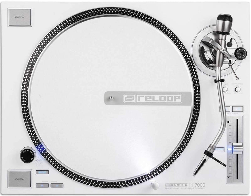 Reloop RP 7000 LTD White Direct Drive DJ Turntable - PSSL ProSound and Stage Lighting
