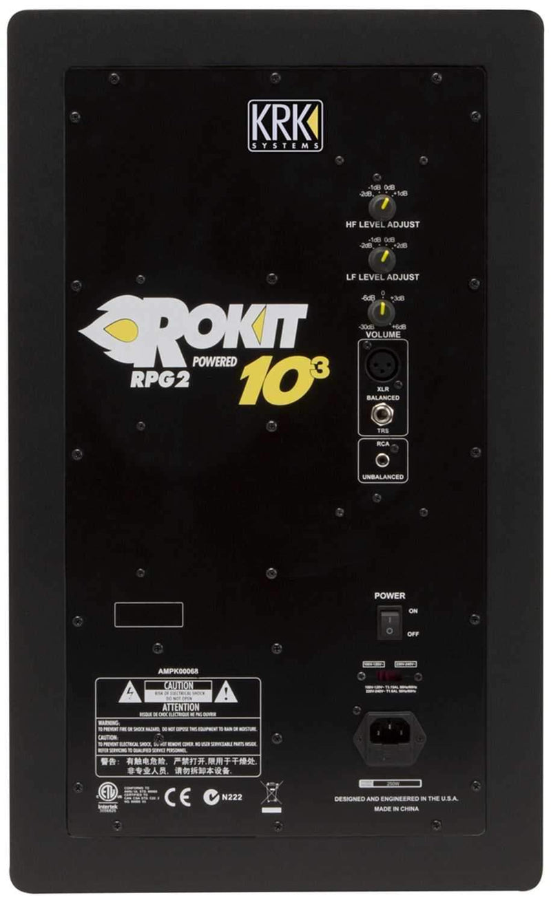 KRK ROKIT RP10-3 G2 10-Inch 3-Way Powered Monitor - PSSL ProSound and Stage Lighting