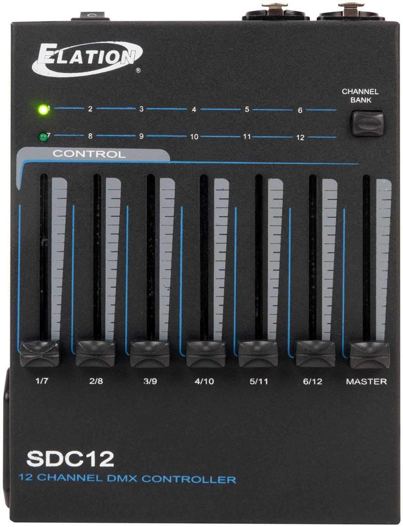 Elation SDC12 Portable 12-Channel DMX Light Controller - PSSL ProSound and Stage Lighting