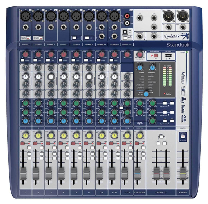 Soundcraft Signature 12 Analog 12-Channel PA Mixer with FX - PSSL ProSound and Stage Lighting
