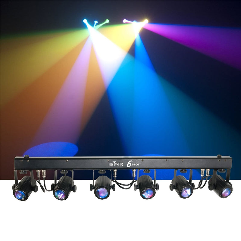 Chauvet 6SPOT RGB LED Spot Light Bar System with Bag - PSSL ProSound and Stage Lighting
