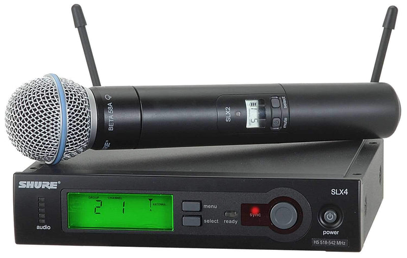 Shure SLX24/BETA58 Handheld Wireless Mic System with BETA58 - PSSL ProSound and Stage Lighting