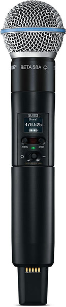 Shure SLXD2/B58 G58 Handheld Transmitter With BETA 58 - PSSL ProSound and Stage Lighting