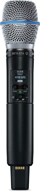 Shure SLXD2/B87A J52 Handheld Transmitter With Beta 87A - PSSL ProSound and Stage Lighting