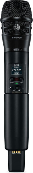 Shure SLXD2/K8B H55 Handheld Transmitter With KSM8 Capsule - PSSL ProSound and Stage Lighting