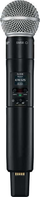 Shure SLXD2/SM58 G58 Handheld Transmitter With SM58 Capsule - PSSL ProSound and Stage Lighting