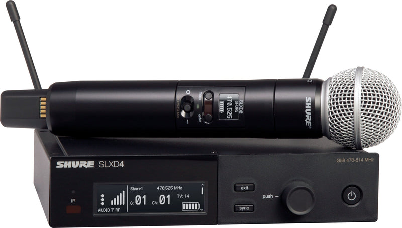 Shure SLXD24/SM58 J52 Wireless Vocal System With SM58 - PSSL ProSound and Stage Lighting