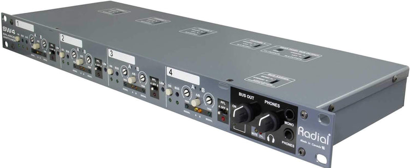 Radial SW4 4 Channel Balanced Stereo AB Input Switcher - PSSL ProSound and Stage Lighting