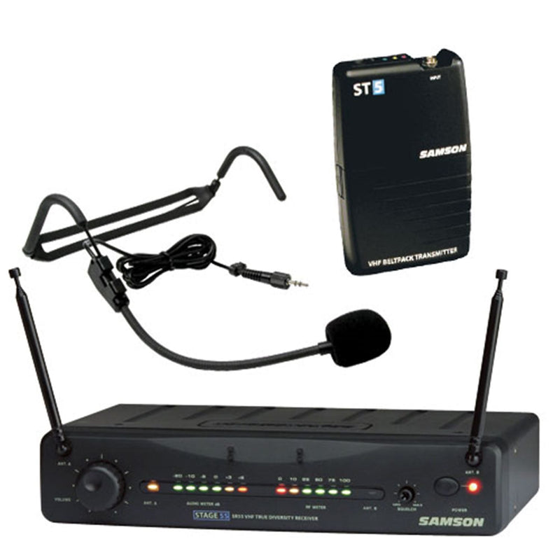 Samson SW55SCH5 Wireless Headset Microphone System - PSSL ProSound and Stage Lighting