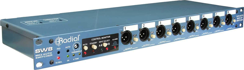Radial SW8 8 Channel Backing Track Switcher with D-Subs - PSSL ProSound and Stage Lighting