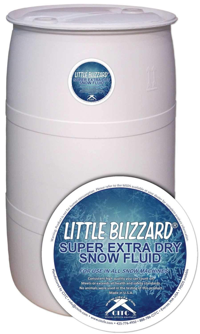 CITC Little Blizzard S Extra Dry Snow Fluid 55 Gallon - PSSL ProSound and Stage Lighting