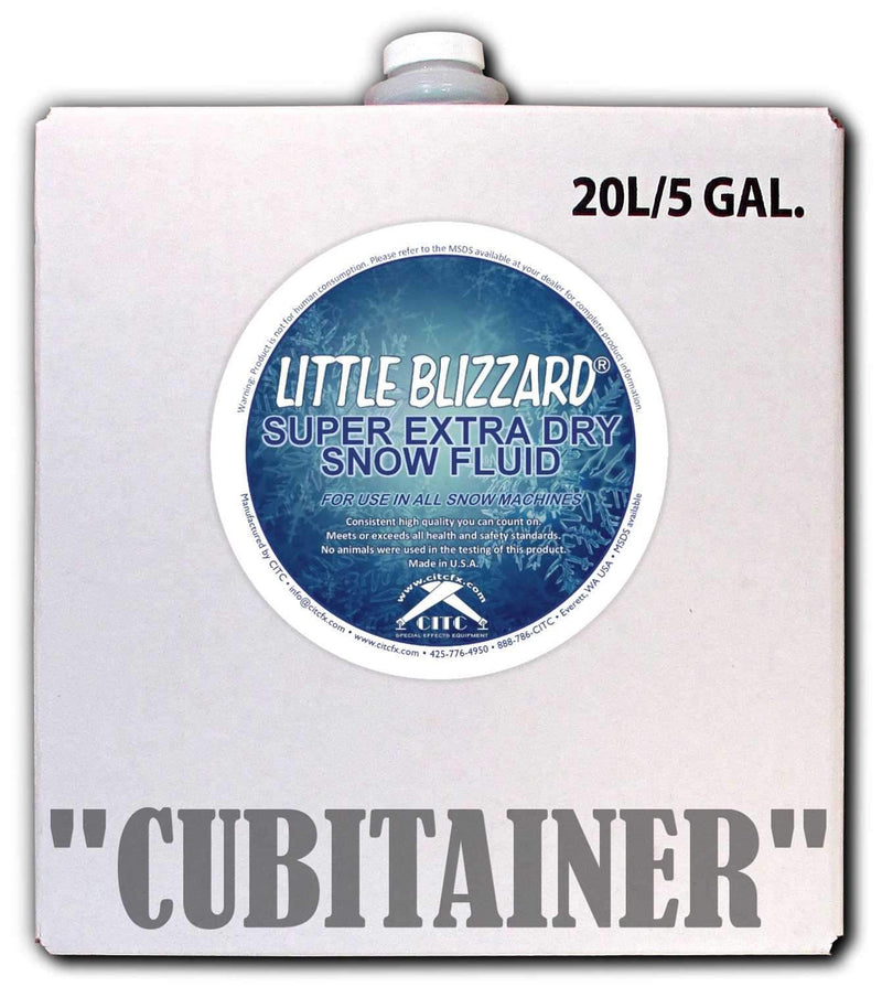 CITC Little Blizzard S Extra Dry Snow Fluid 5 Gal - PSSL ProSound and Stage Lighting